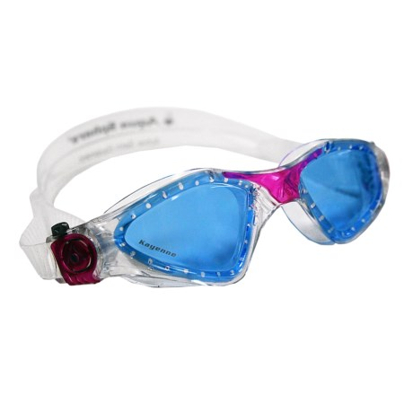 Aqua Sphere Kayenne Swim Goggles (For Women) in Blue/Clear/Pink