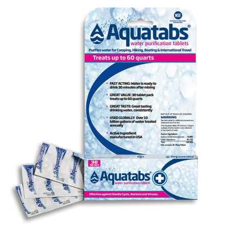 Aqua Tabs Water Purification Tablets - 30-Pack in See Photo - Closeouts