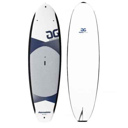 "AquaGlide Impulse Stand-Up Paddle Board - 9'6"" in White/Blue - Closeouts"
