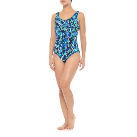 Image of Aquashape Printed One-Piece Swimsuit - UPF 50+, Padded Cups (For Women)