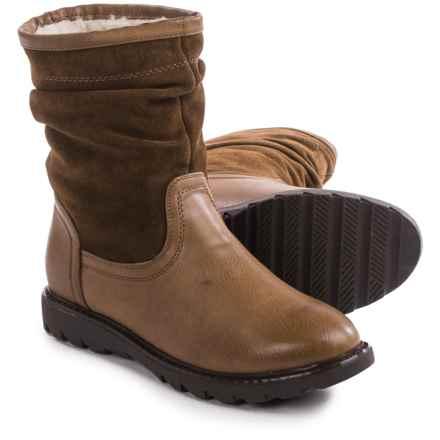 Aquaskin by Henri Pierre Adelise Boots - Waterproof, Wool Lined (For Women) in Cognac - Closeouts