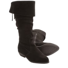 Aquaskin by Henri Pierre Rene Boots - Waterproof, Suede, Half Zip (For Women) in Black - Closeouts