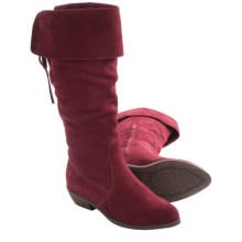 Aquaskin by Henri Pierre Rene Boots - Waterproof, Suede, Half Zip (For Women) in Red Wine - Closeouts