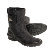 Aquatalia by Marvin K. Boom Weatherproof Boots - Quilted Microfiber, Leather Trim (For Women) in Black - Closeouts