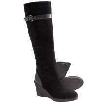 Aquatalia by Marvin K. Leyla 3 Tall Boots - Leather (For Women) in Black Suede - Closeouts