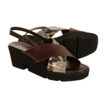 Aquatalia by Marvin K. Strut Sandals - Sling-Backs (For Women) in Brown Calf W/Python - Closeouts