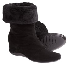 Aquatalia by Marvin K. Vault 3 Boots (For Women) in Black Suede - Closeouts