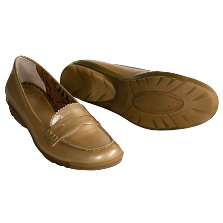 Aquatalia by Marvin K. Whoopie Loafer Shoes - Weatherproof (For Women) in Sand Patent