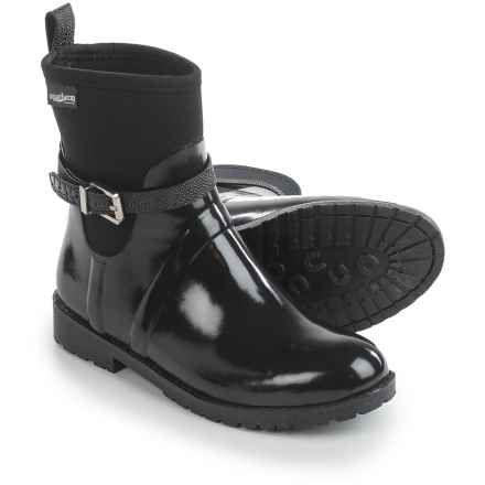 Aquatherm by Santana Canada Crystal Rain Boots - Waterproof (For Women) in Black - Closeouts