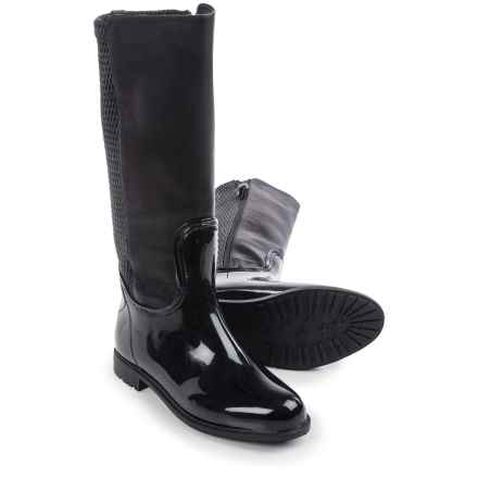 Aquatherm by Santana Canada Frozen Tall Boots - Vegan Leather (For Women) in Black - Closeouts