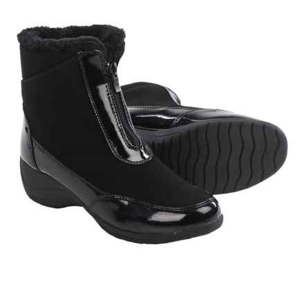 Aquatherm by Santana Canada Maple Zip 5 Winter Boots - Insulated (For Women) in Black/Black Gloss - Closeouts