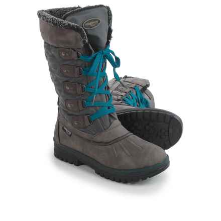 Aquatherm by Santana Canada Moose Winter Boots - Waterproof, Insulated (For Women) in Grey - Closeouts