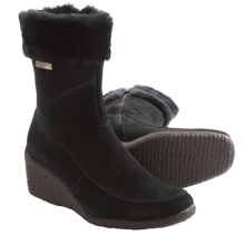 Aquatherm by Santana Canada Tati Winter Boots - Suede (For Women) in Black - Closeouts