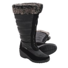 Aquatherm by Santana Canada Yule Snow Boots - Waterproof, Wide Calf (For Women) in Black - Closeouts