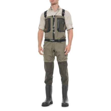 Aquaz Dryzip Waders - Bootfoot, Waterproof, Insulated (For Men) in Ash/Khaki - Closeouts