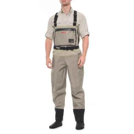 Aquaz Wadertek V Aqualex® Aquateck Chest Waders - Stockingfoot (For Men) in Beige/Brown - Closeouts