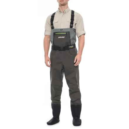 3188ecc231a81 Aquaz Wadertek-V03 Chest Waders - Stockingfoot (For Men) in Grey/Charcoal