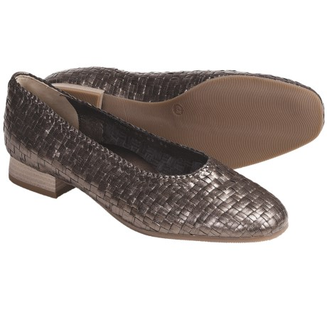 Ara Babs Woven Leather Pumps (For Women) in Brown Metallic