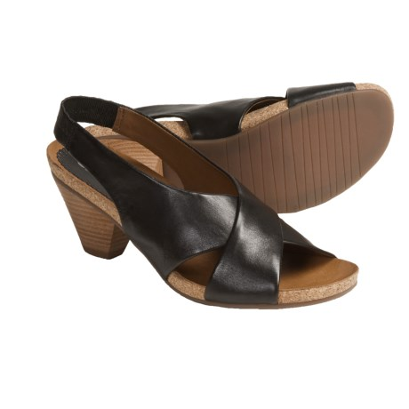 Ara Barcelona Leather Sandals - Sling-Backs (For Women) in Black Smooth
