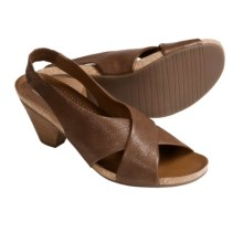 Ara Barcelona Leather Sandals - Sling-Backs (For Women) in Brown Pebble - Closeouts