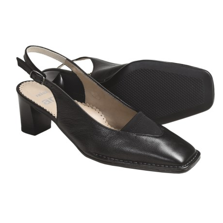 Ara Bologna Leather Shoes - Sling-Backs (For Women) in Black