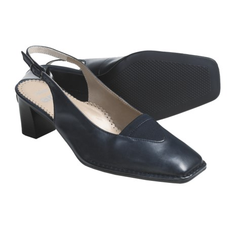 Ara Bologna Leather Shoes - Sling-Backs (For Women) in Blue