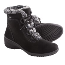 Ara Britney Waterproof Boots- Gore-Tex®, Faux-Fur Trimmed (For Women) in Black - Closeouts