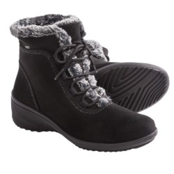 Ara Britney Waterproof Boots- Gore-Tex®, Faux-Fur Trimmed (For Women) in Black