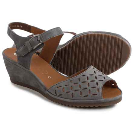 Ara Clair Wedge Sandals - Nubuck (For Women) in Mineral - Closeouts