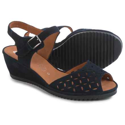 Ara Clair Wedge Sandals - Nubuck (For Women) in Navy - Closeouts