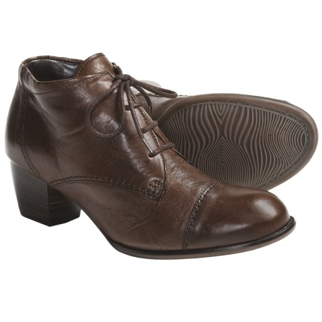Ara Fanny Leather Ankle Boots - Lace-Ups (For Women) in Brown Leather