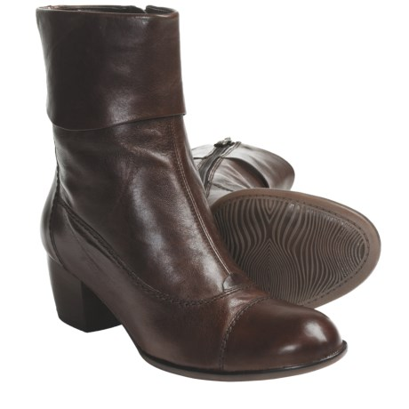Ara Feya Ankle Boots (For Women) in Brown Leather