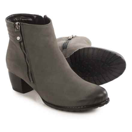 Ara Florrie Ankle Boots - Nubuck, Side Zip (For Women) in Graphite - Closeouts