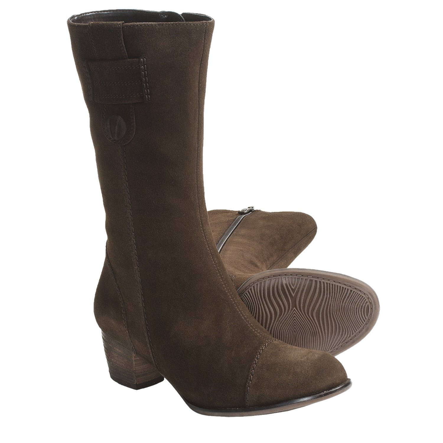 ara frances suede boots for in brown