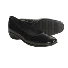 Ara Gella Croc Print Patent Leather Shoes - Wedge Heel (For Women) in Black - Closeouts