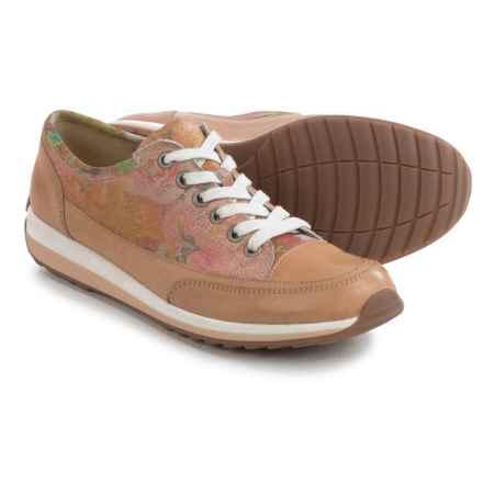 Ara Hampton Sport Sneakers - Leather (For Women) in Calf/Sun-Metal Beige/Plus - Closeouts