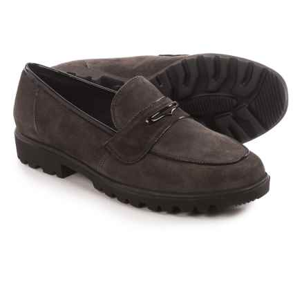 Ara Hanley Penny Loafers - Suede (For Women) in Black Patent - Closeouts