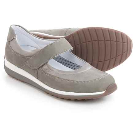 Ara Harper Sporty Mary Jane Shoes - Nubuck (For Women) in Beige Nubuck/Silver Metallic - Closeouts