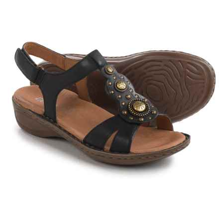 Ara Hudson Sandals - Leather (For Women) in Black Leather - Closeouts
