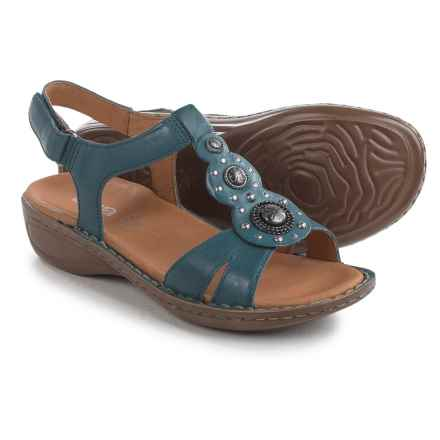 Ara Hudson Sandals - Leather (For Women) in Navy Leather - Closeouts