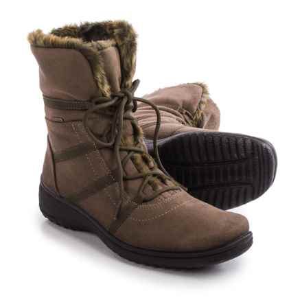 Ara Magaly Gore-Tex® Snow Boots - Waterproof (For Women) in Taupe Microsuede - Closeouts