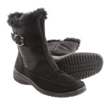 Ara Marsha Gore-Tex® Snow Boots - Waterproof (For Women) in Black Microsuede - Closeouts