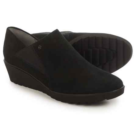 Ara McBride Wedge Shoes - Suede, Slip-Ons (For Women) in Black Suede - Closeouts
