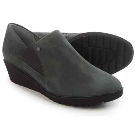 Ara McBride Wedge Shoes - Suede, Slip-Ons (For Women) in Grey Suede - Closeouts