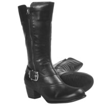 Ara Monique Side Zip Boots (For Women) in Black Leather - Closeouts