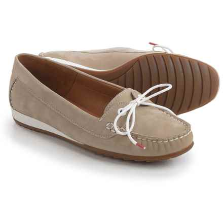 Ara Nele Boat Shoes - Suede, Slip-Ons (For Women) in Nubuk-Heaven Cotton - Closeouts