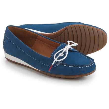 Ara Nele Boat Shoes - Suede, Slip-Ons (For Women) in Nubuk-Heaven Electric - Closeouts