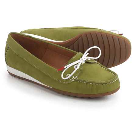 Ara Nele Boat Shoes - Suede, Slip-Ons (For Women) in Nubuk-Heaven Frog - Closeouts