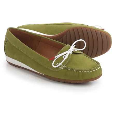 Ara Nele Boat Shoes - Suede, Slip-Ons (For Women) in Nubuk-Heaven Frog - Closeouts