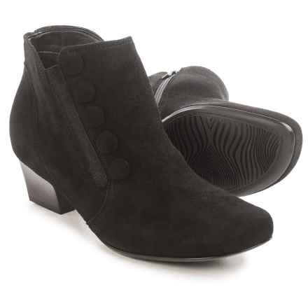 Ara Onyx Ankle Boots - Suede, Tapered Heel (For Women) in Black - Closeouts